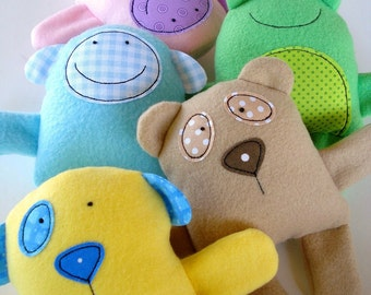 Toy Sewing Pattern - PDF ePATTERN for Baby Animal Softies