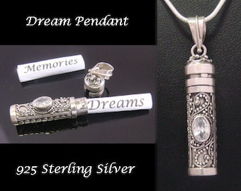 Balinese Dream Pendant Sterling Silver with Cubic Zirconia (CZ) | Keepsake Jewelry, Stunning 925 Sterling Silver Pendant | Dream Pendant 012