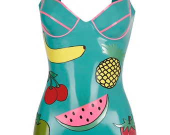 TROPICANA Latex Bodysuit Playsuit