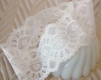 Ivory Lace Headband, Ivory Lace Hairband , Vintage Lace Hairband, Wide Hairband, Vintage Lace Hairband