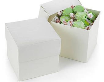 Lidded Ivory Cupcake Favor Boxes (Pack of 25) Wedding Party Favors