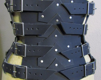 Leather Buckled Corset/ Armor
