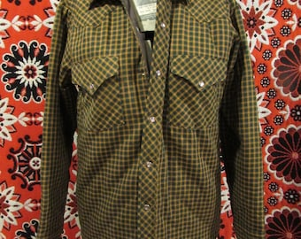 Quilted plaid workwear jacket