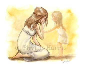 The loss of a child - Bereavement art - Grieving Mother