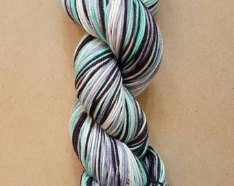 DYED TO ORDER: Hand Dyed Self Striping Sock Yarn ~ Sockcess ~ Creme de Menthe
