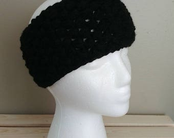Head wrap/Ear warmer, Black