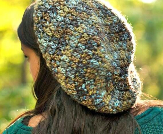 Crochet Hat Womens Hat Blue Slouchy Beanie Blue Hat - Weekender Slouchy Hat in Blue Bayou Crochet Hat - Womens Accessories Winter Hat