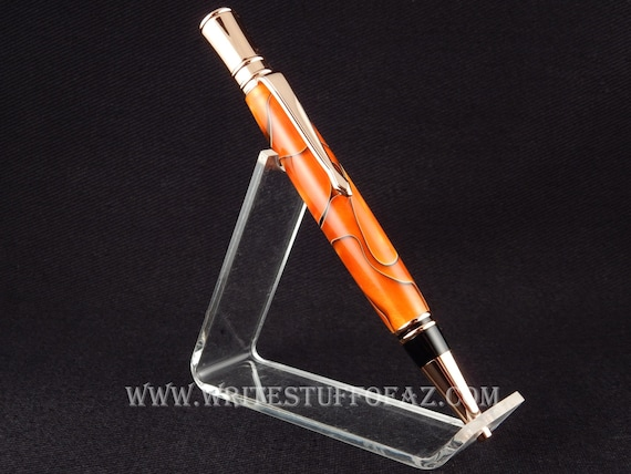Parker Duofold inspired - Executive Twist Pen in Orange & Black