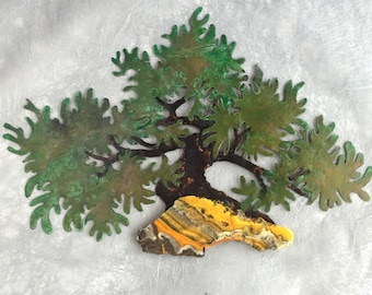 Copper Bonsai Wall Art: Moyoghi Style  -Deposit for Commission