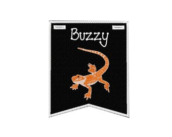Bearded Dragon (lizard) Cage Banner-PERSONALIZED