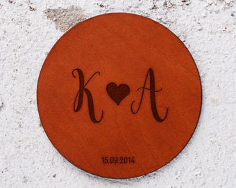 3 year anniversary, Leather Coaster, Leather Anniversary Gift, 3rd year anniversary gift, Personalise it, Personalised gifts, Leather Gift
