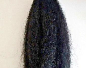 hindu goddess kali black chamor/whisk for worship/aarti 17 inches
