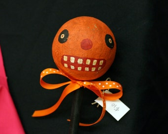 Toothy Pumpkin on a Stick