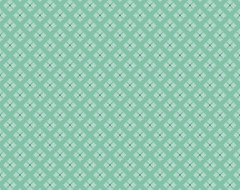 Bee Basics By Lori Holt Stitched Flower Teal (C6409-Teal)