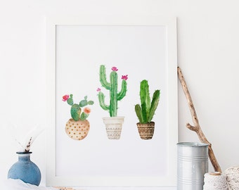 Printable Cactus print Succulent Printable Art Cactus Wall Art Printable Succulent Cactus Printable Botanical Printable Cacti