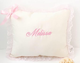 Personalized baby pillow - Pink baby pillow -Custom baby gift - Monogrammed baby pillow - Personalized baby gifts for girl - Baby girl gift