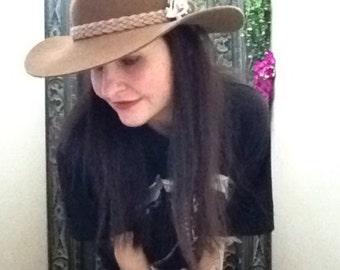 VINTAGE AUSTRALIAN wool festival boho cowgirl hat