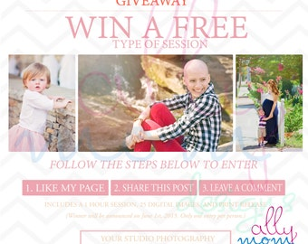 Giveaway 3 photo template