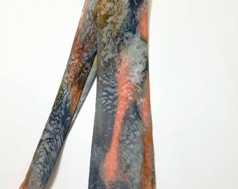 Valentine's Day Gift For Him! Hand Painted Silk Tie OOAK