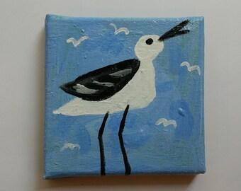 Square Gull/Original Mini Painting