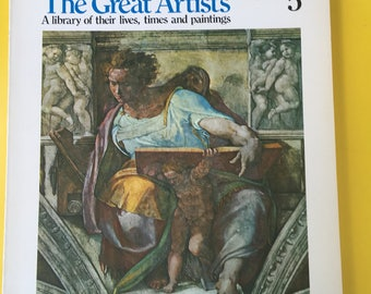 The Great Artists, Books 5, 6, &7, published in 1978. Michelangelo, DaVinci, Picasso