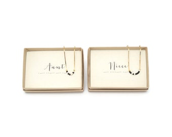 AUNT & NIECE || Morse Code Necklace Set, Aunt And Niece, Aunt Niece Necklaces, Aunt Niece Jewelry, Aunt Gift, Niece Gift, Gifts For Aunts