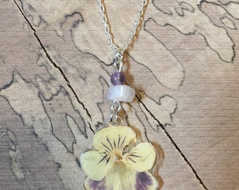 Pansy - Pressed Flower Necklace