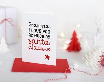 Personalised Printable Christmas Cards | Christmas Printable | Christmas Gifts for Grandparents | INSTANT DOWNLOAD 5x7 8x10 Printable Art
