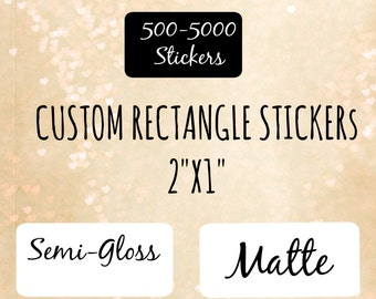 2X1 CUSTOM STICKERS , 1000 2x1 labels , ingredient labels ,personalized stickers ,stickers,custom sticker ,custom labels