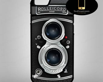 Retro Rolleicord Vintage 50's Camera Cool Photographer iPhone Silicone/Rubber Phone Case Cover For iPhone 4/4s, 5c, 5/5s/Se, 6/6, 7, 8 and X