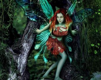 Incendia Unda by Susan Schroder - Mythic Fantasy Fairy Art Print