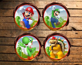 Mario Bros Edible Cupcake Toppers