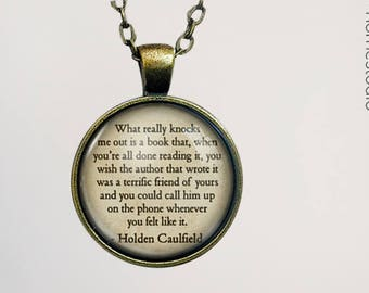 Catcher (Authors) Quote jewelry. Pendant, Necklace or Keychain Key Ring. Perfect Gift Present. Glass dome phrase words charm HomeStudio