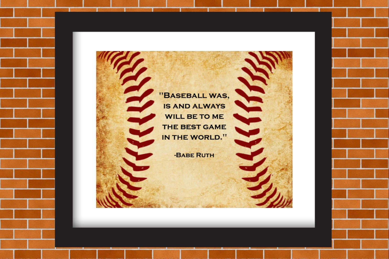 Printable Baseball Art Babe Ruth Baseball Quote Boys Room