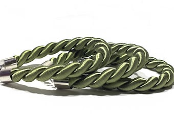 Green Bracelet, Rope Bracelet, Personalized Twisted Silk Cord Bracelet - Green Bracelet - More Colors Available!