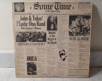 Vintage 1972 Vinyl LP Record John & Yoko Plastic Ono Band Some Time In New York City Excellent Condition 15288