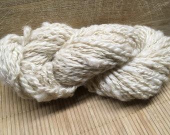 DOUGAL Lleyn/DorsetX handspun undyed yarn aran ply S17