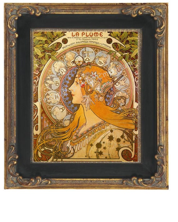 Art Nouveau Art Deco Art Print 8 x 10 Celestial Goddess