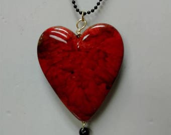 Red marble necklace