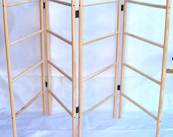 Wooden clothes airer - 4 panel - 4 rung