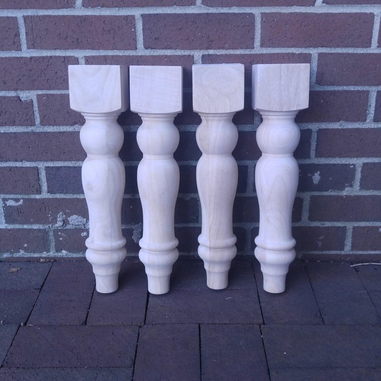 16 Chunky Farmhouse Bench Legs or Coffee Table Legs