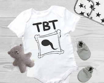 Funny Baby Gift / TBT Sperm Baby Onesie / Boy Saying Shirt / Gender Neutral Baby Top / Coming Home Outfit / Baby Shower Gift / Baby Bodysuit