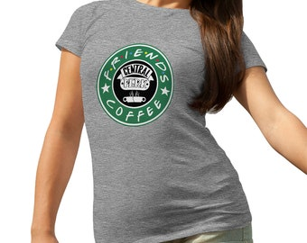 Friends Central Perk Starbucks Coffee Crazy T-Shirt for Ladies Cool Gift