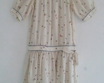 vintage silk drop waist dress