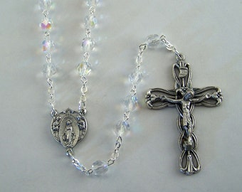 April Birthstone Rosary