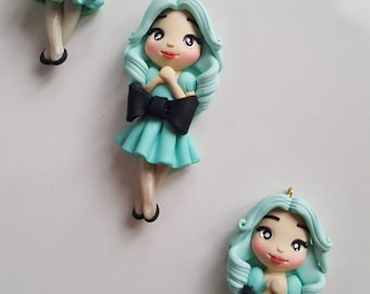 Lil' mint sister charm/ pendant