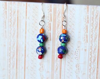 Handmade world earrings