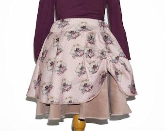 Twirl skirt in velvet and cotton
