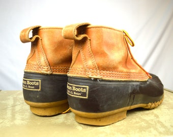 Vintage  LL Bean Maine Hunting Duck Rain Boots - Leather and Rubber