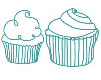 Cupcakes Cut File .SVG .DXF .PNG